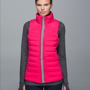 Lululemon Fluffed up vest. Boom juice. Size 8